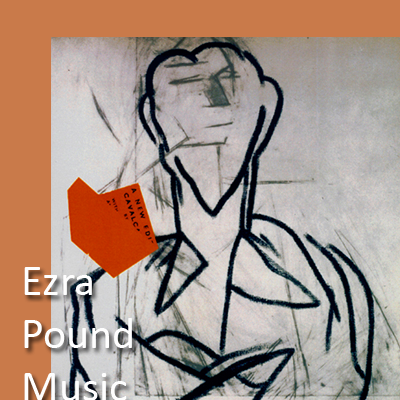 'Ezra Pound II' by American painter R. B. Kitaj, screenprint, logo for publications by Second Evening Art
